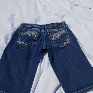 Miss Me Bermuda womens shorts. Size 30 blue jean.